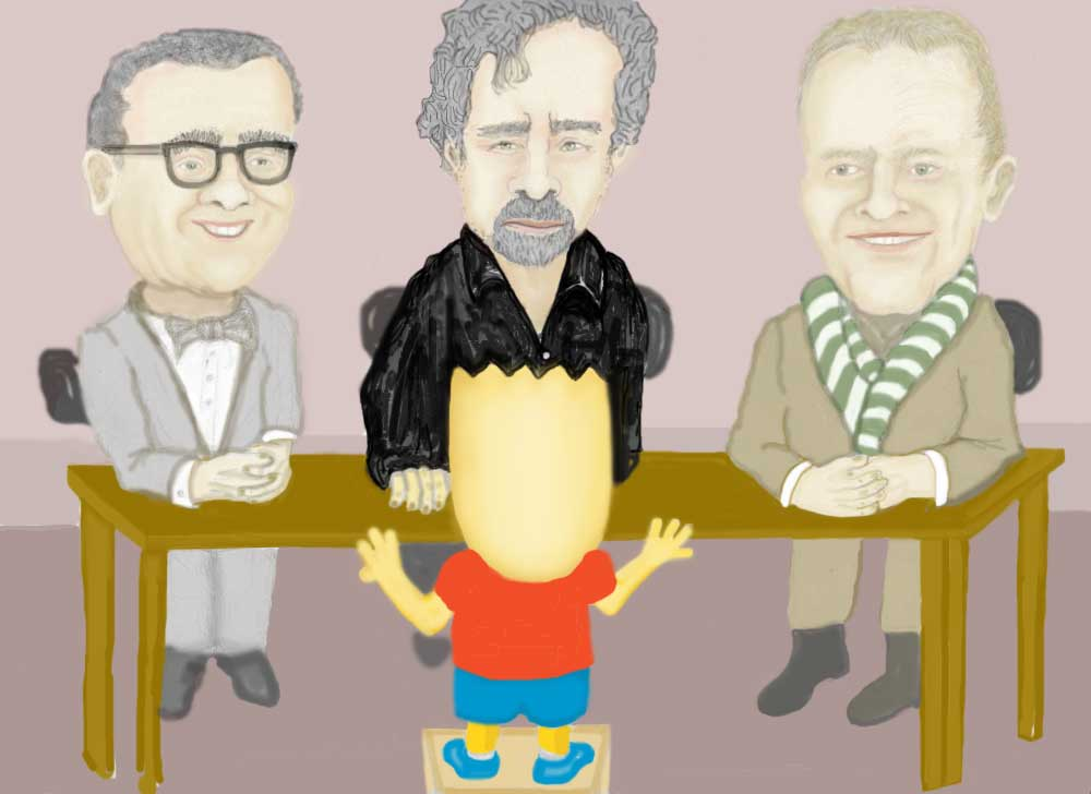 Bart Simpson auditions for Martin Scorsese, Tim Burton and Terry Gilliam..